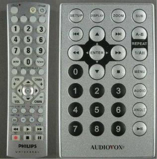 Remote Controls Philips Universal CL035A 4 Device & Audiovox DVD