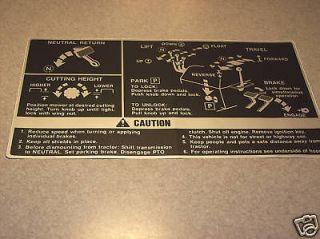 John Deere 140 Fender Deck Decal NEW OEM