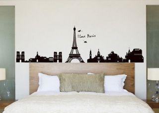 New EIFFEL TOWER wall Stickers Mural PARIS Room Decor Art Vinyl