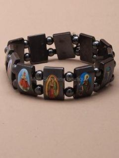 All Saints Catholic Christian Holy Jesus Religious Hematite Bead