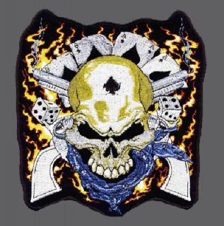 SON OF OUTLAW ANARCHY DEAD MAN SKULL BIKER PATCH 4 INCH PATCH