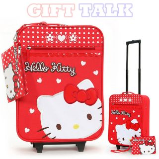 Kitty Luggage Trolley Bag 17 for Kids Officially Licensed Suitcase