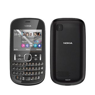 NEW NOKIA ASHA 201 BLACK KEYBOARD UNLOCKED GSM DUALBAND BAR CELL PHONE