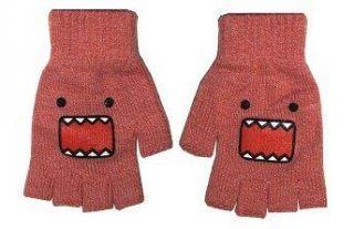 Domo Kun Pink Face Knit Fingerless Gloves