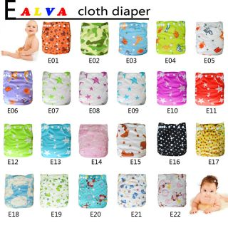 pick nice alva washable reusable baby cloth Pocket diapers +1