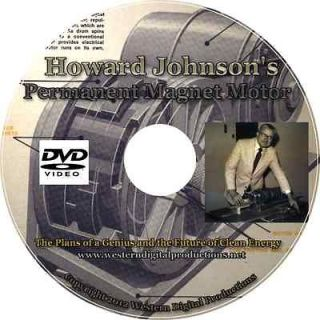 Howard Johnsons Permanent Magnet Motor Plans Gas Alternative Fuels