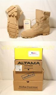 Military Army COOLMAX Desert Tan Combat BOOTS Sizes 4 14 $146 USA MADE