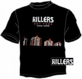 02 The Killers band excellent white t shirt S, M, L, XL size