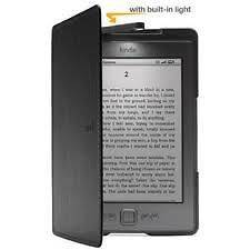 Kindle Lighted Leather Cover   BLACK   for 6 E ink Kindle