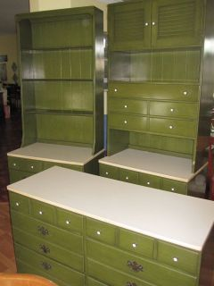 ETHAN ALLEN DRESSER BOOKSELF HUTCH KITCHEN BUFFET 3 PIECE SET