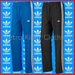 Adidas Originals Black Blue Tracksuit Pants Bottoms Joggers Sports Gym