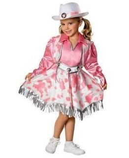 COWGIRL pink outfit WESTERN DIVA girl child kid MEDIUM 8 10 Halloween