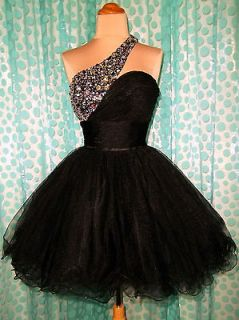 HOMECOMING BLACK PROM COCKTAIL EVENING PAGEANT SHORT PARTY GOWN DRESS