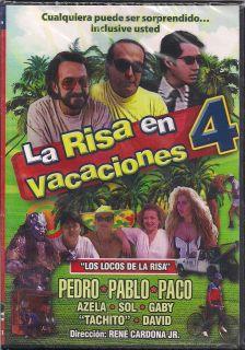 La Risa En Vacaciones 4 DVD NEW Pedro Pablo Paco Los Locos De la Risa