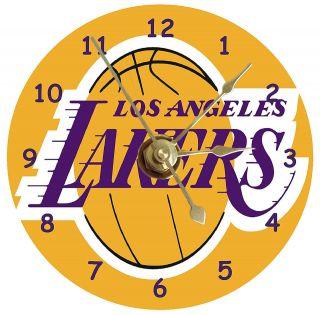 LOS ANGELES LAKERS FRAMED WALL CLOCK NEW LA LAKERS