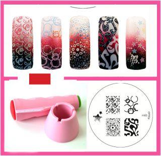 Konad Stamping Nail Art Multi New stamper And Scraper+ M85 Image Plate