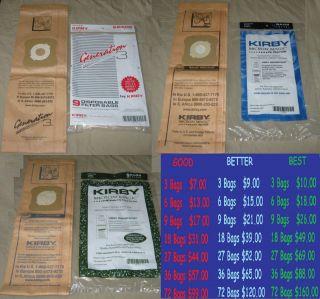 Kirby Vac Generation 3 4 5 6 G3 G4 G5 G6 Ultimate G Vacuum Bags   HEPA