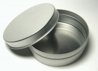 Blank Round Metal Tin Box Survival Kit Containers #7