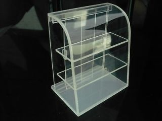 Small Clear Acrylic Table Top Display Unit Dollhouse Miniatures Supply