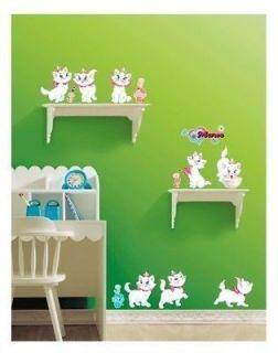 Disney Marie Cat Home Art deco Wall Mural Decal Sticker wallpaper cute