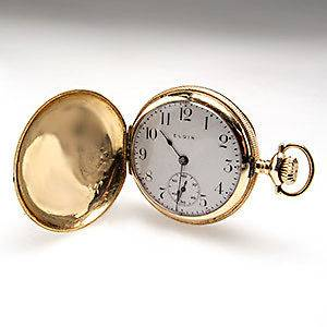 Ladies Antique Elgin Engraved E Pocket Watch Highly Detailed Solid