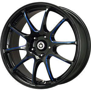 New 17X7 5x114.3 KONIG Illusion Black Wheels/Rims