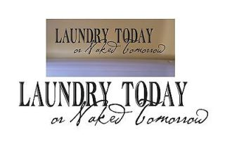 Laundry todaysaying vinyl decal wall sticker room decor quote