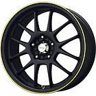 New 15X6.5 4x100 KONIG Daylite Black Wheels/Rims