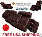 LEATHER HT 1650 Human Touch Robotic Massage Chair Recliner with HEAT
