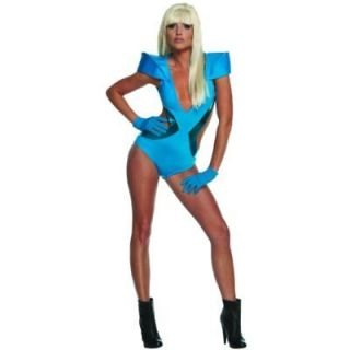 Womens LADY GAGA swimsuit Halloween costume POKER FACE SMALL 6 10 FREE