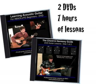 Learn to Play Guitar DVD Video / Lessons Beginners & Up 2 DVD Set