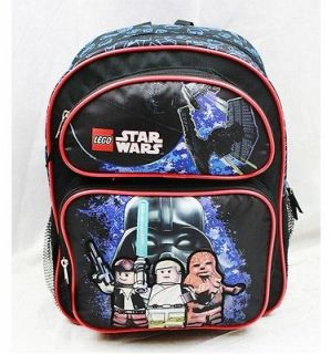 Lego Star Wars 14 Medium Backpack School Bag Black Darth Vader Luke