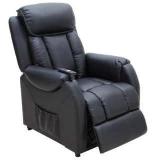 AMALFI LEATHER FINISH ELECTRIC POWER RECLINER CHAIR WITH TILT & LIFT