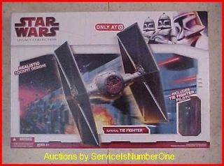 Star Wars Imperial TIE Fighter w TIE Pilot Legacy Col Target Exclusive