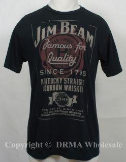 JIM BEAM Whiskey 200 Years Label Slim Fit T Shirt S M L XL 2XL NEW