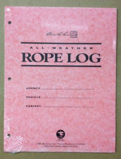 Rescue Equipment All Weather Rope Log w/ Rite in Rain Paper 20 pages