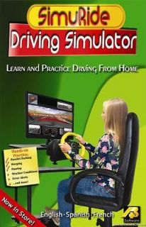 HE Driver Simulator & Road Rules software with Steering Wheel & pedals