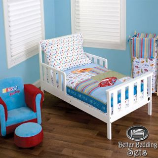Kid NHR Nascar Race Car Crib Nursery Blanket Bed Linen Bedding Set