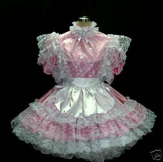 BBT VICTORIAN LACE ADULT SISSY FRENCH MAID DRESS APRON