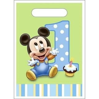 Baby Mickey Mouse First 1st Birthday Treat Loot Bags Mickey Mouse