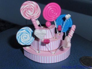 MAGNIFICENT DOLLS HOUSE **PINK LOLLIPOP DISPLAY STAND** DOLLHOUSE