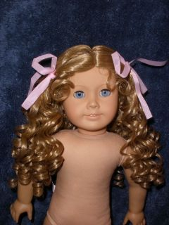 11 Modacrylic Doll Wig, Parts Repair, Fits American Girl Dolls Blonde