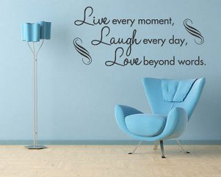 LIVE LAUGH LOVE   Wall Quote Decal Sticker Art Wall Lettering
