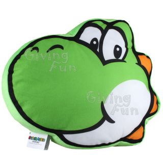 Super Mario Bros Yoshi Cushion Pillow Plush Bolster Toy Figure