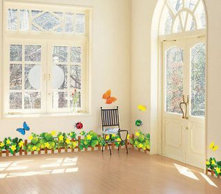 Flower Butterfly Feifei ladybird wall sticker Decal Removable Art