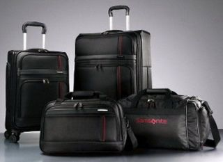 Piece Black Spinner Wheel Luggage Set 27 Suitcase Duffel Bag