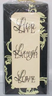 NEW Wooden Sign LIVE LAUGH LOVE 11 H X 5 1/4 W