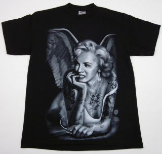 MONROE T shirt Tattoo Angel Wings  Music Tee Adult M,L,XL,2XL New