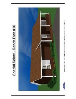 Ranch Home Panelized House Kit DIY New Construction Prebuilt Home