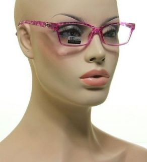 Reading Glasses Purple Pink And Clear Tortoise Eyeglasses + 1.25